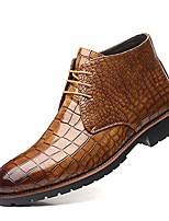 cheap -but& #39;s crocodile print dress ankle boots, lace-up business casual oxford shoes for men
