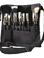 cheap -22 pockets professional cosmetic makeup brush bag with artist belt strap for women & #40; brush not included & #41;