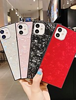 cheap -Case For Apple iPhone 7 7P iPhone 8 8P iPhone X iPhone XS XR XS max iPhone 11 11 Pro 11 Pro Max iPhoneSE (2020) Glitter Shine Back Cover Solid Colored Marble TPU