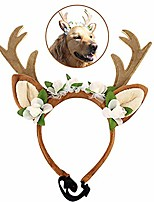 cheap -pet costume antlers headbands christmas antler headdress elastic band design dogs cats antler headband