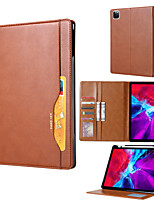 cheap -Case For Apple Apple iPad Pro 11''  Ipad Pro 11''2020  Card Holder Shockproof Magnetic Full Body Cases Solid Colored PU Leather  TPU