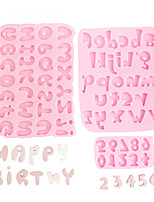 cheap -Silicone Mold Character Number for Cake Pastry Baking Chocolate Candy Fondant Bakeware Round Shape Dessert Mould DIY Decorating