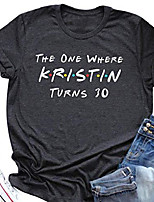 cheap -the one where kristin turns 30 shirt 30 birthday tshirts for women short sleeve funny letter print t shirt& #40;grey,small& #41;