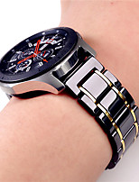 cheap -Watch Band for Samsung Gear S3 Samsung Galaxy Classic Buckle / Business Band Stainless Steel / Ceramic Wrist Strap