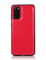 cheap -Case For Samsung Galaxy Galaxy A10(2019) A20(2019) A30(2019) A40(2019) A50(2019) A70(2019) Wallet Card Holder Full Body Cases Solid Colored PU Leather TPU