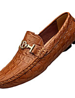 cheap -Men's Spring / Fall Daily Outdoor Loafers & Slip-Ons Nappa Leather Blue / Brown