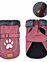 cheap -dog jackets pet dog cold weather clothes dog vest with reflective trim cozy windproof snowsuit warm dog apparel for small medium large dogs (red m)