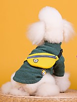 cheap -Dog Coat Bear Casual / Daily Cute Casual / Daily Winter Dog Clothes Warm Yellow Green Costume Cotton S M L XL XXL XXXL