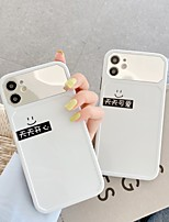 cheap -Case For iPhone 7 8 7plus 8plus X XR XS XSMax SE(2020) iPhone 11 11Pro 11ProMax Max Shockproof Mirror Pattern Back Cover Word Phrase Cartoon TPU