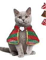 cheap -Dog Cat Costume Sequin Party Wrap Included Winter Dog Clothes White / Red Red Green Costume Fabric S M L