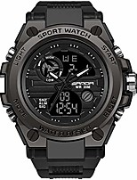 cheap -men's military watch outdoor sports electronic watch tactical army wristwatch led stopwatch waterproof digital analog watches