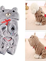 cheap -cold weather pet clothes for dog cat puppy hoodies coat winter sweatshirt warm sweater (grey)