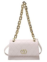 cheap -Women's Bags PU Leather Crossbody Bag Chain for Event / Party / Going out White / Black / Fall & Winter