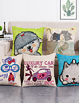 cheap -Set Of 5 Polyester Throw Pillow Living Room Cushion Cover Car Home Decoration Sofa Bed Decorative Pillowcase