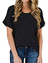 cheap -women& #39;s short sleeve shirts summer loose casual t-shirt tops & #40;black, x-large& #41;