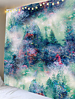 cheap -Polyester tapestry wall hanging tie dye forest pattern blanket home decoration multifunctional yoga mat