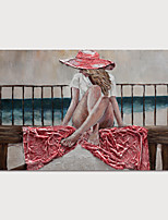 cheap -Hand Painted Canvas Oil Painting Abstract People Home Decoration Without Frame Painting Only Rolled Without Frame