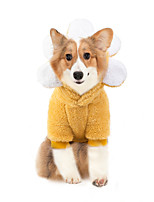 cheap -Dog Coat Pajamas Flower Casual / Daily Cute Casual / Daily Winter Dog Clothes Warm Yellow Blue Pink Costume Plush S M L XL XXL