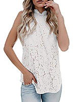 cheap -womens sleeveless lace tank top crochet halter embroidered sexy summer cami blouse white