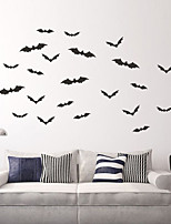 cheap -Halloween Bat Wall Stickers Decorative Wall Stickers, PVC Home Decoration Wall Decal Wall Decoration / Removable