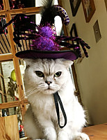 cheap -Dog Cat Halloween Costumes Bandanas & Hats Spiders Witch Unique Design Cool Christmas Party Dog Clothes Breathable Purple Costume Fabric