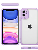 cheap -Case For Apple iPhone 7 7P iPhone 8 8P iPhone X iPhone XS XR XS max iPhone 11 11 Pro 11 Pro Max Shockproof Transparent Back Cover Solid Colored TPU