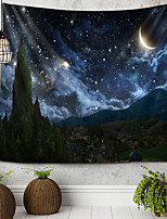 cheap -Starry Sky Tapestry Wall Hanging Tapestries Wall Blanket Wall Art Wall Decor Landscape Painting Tapestry Wall Decor