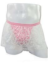 cheap -Men's 1 Piece Basic G-string Underwear - Normal Low Waist White L XL XXL