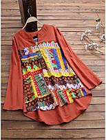 cheap -Women's Blouse Tie Dye Long Sleeve Print Round Neck Tops Loose Basic Basic Top Black Blue Orange