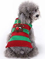 cheap -dog sweater christmas puppy cute warm clothes doggie winter knitwear sweaters pet cat xmas clothing & #40;reindeer, large& #41;