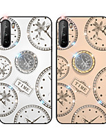 cheap -Case For Huawei Honor 20 20S 20lite 30 30Pro 30Youth 7C X10 X10Max  Play 3 4 4T 4TPro Enjoy 8 Nova 7 7SE 7Pro Rhinestone Ring Holder Pattern Back Cover Word Phrase TPU