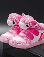 cheap -Boys' / Girls' Flats Comfort PU Little Kids(4-7ys) / Big Kids(7years +) Walking Shoes Black / Pink Spring / Fall