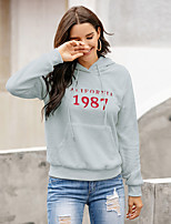 cheap -Women's Daily Pullover Hoodie Sweatshirt Number Monograms Basic Hoodies Sweatshirts  Red Yellow Army Green