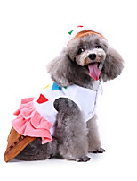 cheap -Dog Halloween Costumes Costume Shirt / T-Shirt Princess Casual / Sporty Cute Christmas Party Dog Clothes Breathable Pink Costume Polyester S M L XL