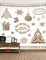 cheap -Christmas Weihnachten Santa Claus Wall Tapestry Art Decor Blanket Curtain Picnic Tablecloth Hanging Home Bedroom Living Room Dorm Decoration Painting Style Star Christmas Tree Gift Snowflake Polyester