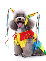 cheap -Dog Cat Halloween Costumes Costume Stripes Princess Ethnic Style Party Halloween Dog Clothes Stripe Costume Polyester S M L XL