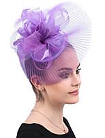 cheap -Queen Elizabeth Audrey Hepburn Retro Vintage 1950s 1920s Kentucky Derby Hat Pillbox Hat Women's Costume Hat Purple Vintage Cosplay Party Prom