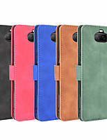 cheap -Case For SonyXperia 1  Xperia 1II Xperia 10 Xperia 10II Xperia 10 Plus Xperia XZ3 Xperia L4 Xperia 5 Wallet  Shockproof Magnetic Full Body Cases Solid Colored PU Leather TPU