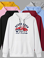 cheap -Women's Hoodie Cartoon Hoodie Car Sport Athleisure Pullover Long Sleeve Warm Soft Oversized Comfortable Everyday Use Exercising General Use