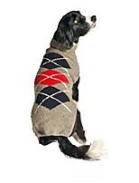 cheap -grey classic argyle dog sweater, medium