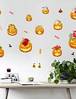 cheap -Halloween Party Halloween Decor Horror GhostHalloween Pumpkin Wall Stickers Decorative Wall Stickers, PVC Home Decoration Wall Decal Wall Decoration / Removable