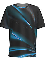 cheap -Men's Daily T-shirt Abstract Graphic Short Sleeve Tops Basic Round Neck Black