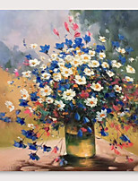 cheap -IARTS Hand Painted Daisy Oil Painting with Stretched Frame For Home Decoration With Stretched Frame