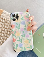 cheap -Case For Apple iPhone 7 8 plus SE 2020 X XS XR XS max  11 11 Pro 11 Pro Max Pattern Back Cover  TPU Embossed cute LOVELY Flower
