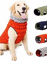cheap -dog jacket waterproof, dog coats reversible, winter dog vest elastic warm dog puffer jacket with leash hole for small medium large dogs