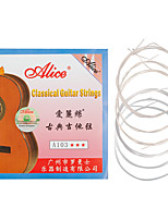 cheap -NAOMI Alice Guitar Strings A103 Clear Nylon Silver Plated EBGDAE Single 6 Strings Classic Guitar String