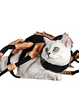 cheap -Dog Cat Halloween Costumes Costume Bandanas & Hats Spiders Unique Design Cool Christmas Party Dog Clothes Breathable Costume Cotton S M