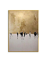cheap -100% Hand painted Golden City and People Oil Painting Canvas Wall Art Paint Home Decor Home Decoration Wall No Frame Rolled Without Frame