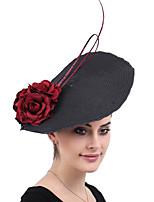 cheap -Queen Elizabeth Audrey Hepburn Retro Vintage 1950s 1920s Kentucky Derby Hat Pillbox Hat Women's Costume Hat Black Vintage Cosplay Party Prom