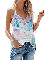 cheap -women summer v neck ruffle camisole tank top sexy adjustable spaghetti shirt white medium